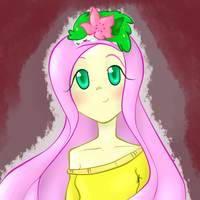 Fluttershy and her Shaymin by Jadedhyrt
