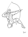 Marvel In Heels - Hawkeye by BevisMusson