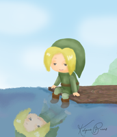 First attempt at drawing Link. by kelynneishere