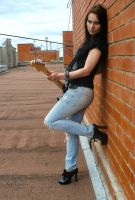 guitar and sky by Vasilissia