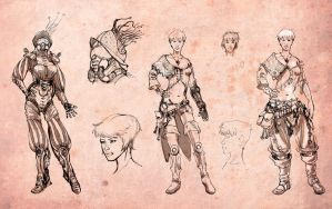 Character concept - Space pilots - 1 by DrManhattan-VA