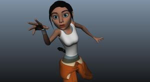 New Chell early rigging stages by alexzemke