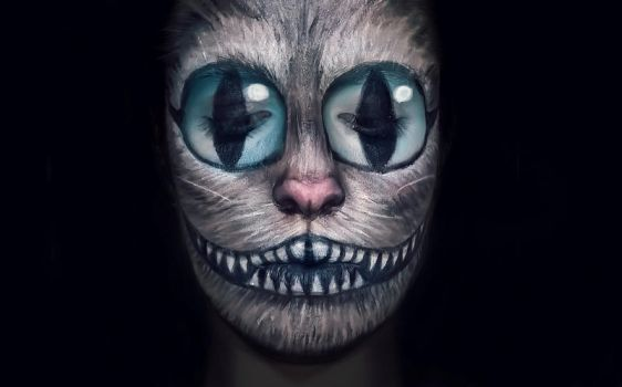 Chesire Cat Make-up by dgippi4