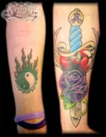 Ying yang cover up by state-of-art-tattoo