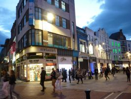 Grafton Street after closing time by GerdElise