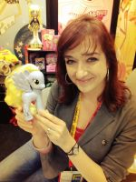 Lauren Faust signed my Comic Con Derpy Exclusive!! by SketchCoyote