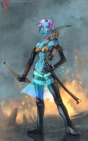 Drow Girl by Hyptosis