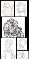 SKETCHDUMP: PART THE FIRST by TheCrowchan