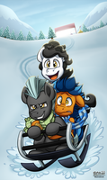 Winter Sledding by BuizelCream