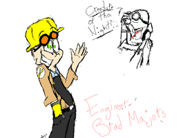 Team Fortress Picture Show Char. Concept- Engineer by TheCatilinaWineMixer