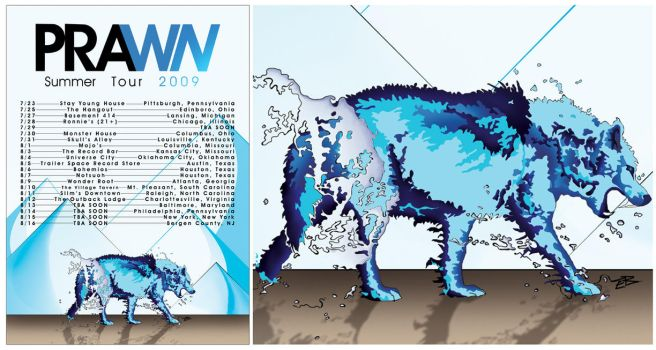 Prawn Summer Tour Poster by difusion