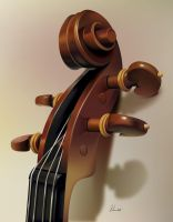Violin Detail by gabedesignz
