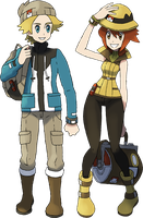 2nd Gen Hero/Heroine: Alphonse and Savanna by NachtBeirmann