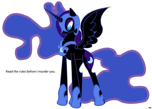 Nightmare Moon- base by Pony-bases-4-all
