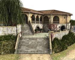 Spanish Villa - Stock PNG by ArtReferenceSource