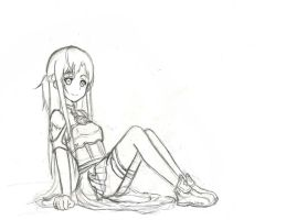 Sketch (Asuna) by Khaiba