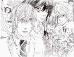 Death Note: Poster Drawing by Piegoose