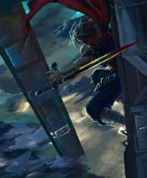 Strider Hiryu Speed Paint by suzuran