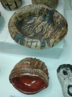 some of my pottery work by mayavamp