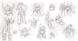 Hiccup Haddock Sketches 2 by Keitronic