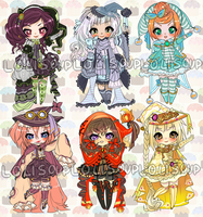 WITCHES IN STITCHES ADOPTABLE AUCTION by Lolisoup