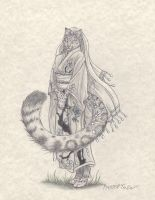 Commission: Anthro Snow Leopard by RussellTuller