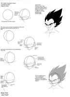 Vegeta's Head Tutorial by MariaS17