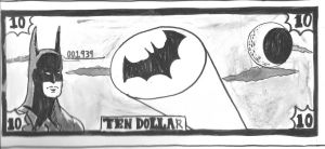 Batman Dollar by TroyandFriends