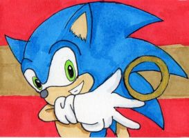 Sonic the Hedgehog ATC by anne-t-cats