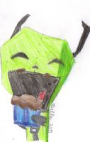 Gir Eating Cupcake :D by BellaSan98