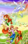 Jennifer and Foximon revisited by PlumPetalPixie