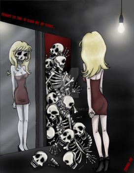 Skeletons in my closet... by Zombie-Pip