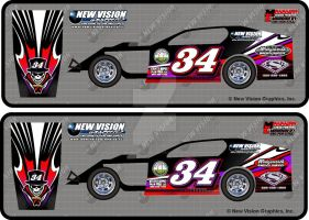 34 Modified Race car Wrap by drummerboy398