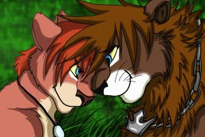 Sora and kairi adult lions by Silverkey101
