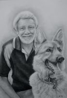 Man's best friend by JaneyArt