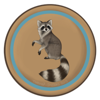 Camp Badges: Raccoon Tribe by Tattered-Dreams