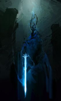 The Dark Lord Awakens, spitpaint by cobaltplasma