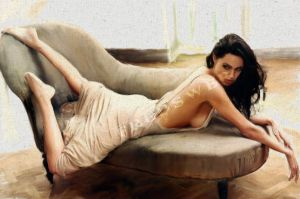 Another Painting of Angelina by jmonebay