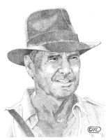Indiana Jones by Deathbygraphite