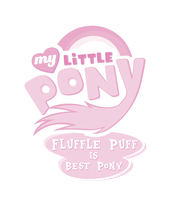 Fluffle Puff is Best Pony Logo by Jackardy