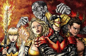X-Men Fenix version - colored by cristianosuguitani