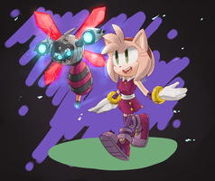 Sonic Boom: Amy and Bea by 5LunatheHedgehog5