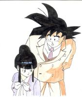 Son Goku and Chichi by Maetelsama