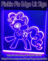 Pinkie Pie Glow Sign #2 by AnimeAmy