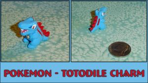 Pokemon - Totodile Charm by YellerCrakka