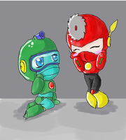 bubbleman and metalman by roxy-the-dog