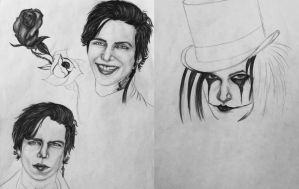 Covered By The Roses Sketch 3 / Mr Jinxx Sketch 1 by KatarinaAutumn