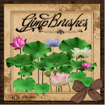 GIMP Brushes | Lotus Brushes by TheAngeldove
