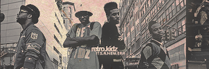 Retro Kidz Pink and Brown by mikeyrocks