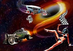 Drag Race in Space by jdmacleod